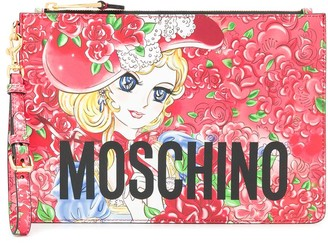 Moschino Georgie print clutch