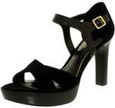 Lauren Ralph Lauren Lauren Ralph Women's Senica-Sn-Drs Suede Black Ankle-High Pump - 8M