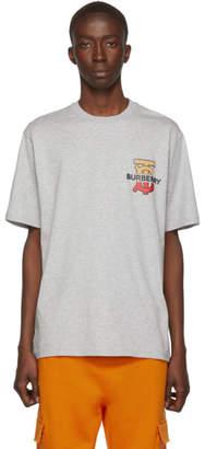 Burberry Grey Monogram Oversized Gately T-Shirt