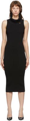 Balmain Black Rib Knit Dress