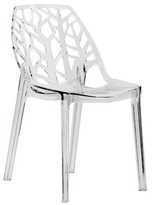 Bronx Kimonte Contemporary Dining Chair Ivy Finish: Transparent Clear