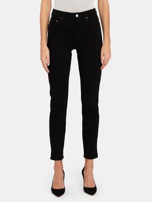Trave Lawson High Rise Side Slit Skinny Jeans