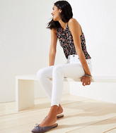 LOFT Curvy Cinched Hem Slim Pocket Skinny Crop Jeans in White