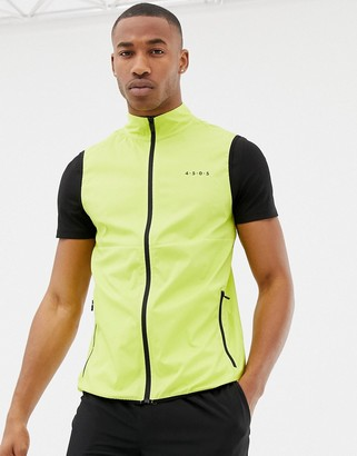 Asos 4505 4505 sleeveless running jacket in yellow