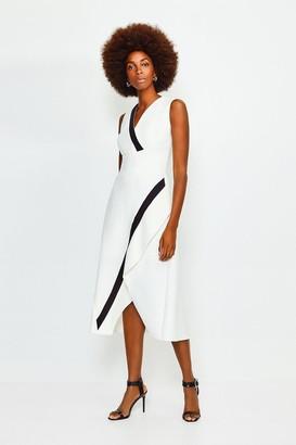 Karen Millen Sleeveless Waterfall Dress