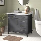 "Birch Lane Newport 36"" Single Bathroom Vanity Heritage Base Finish: Charcoal Gray"