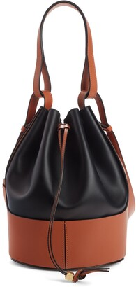 Loewe Balloon Colorblock Leather Bucket Bag
