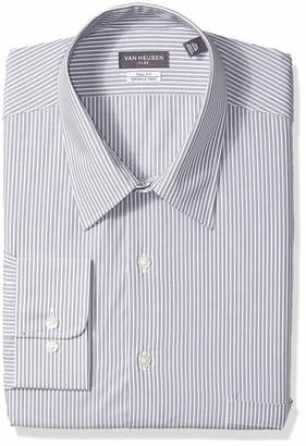 Van Heusen Men's Size FIT Dress Shirts Flex Collar Stripe (Big and Tall)