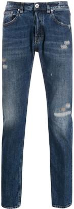 Eleventy Straight-Leg Distressed Finish Jeans
