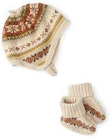 Ralph Lauren Cotton-Wool Hat & Booties Set