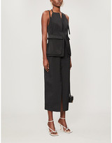 Jacquemus Ascea plunging V-neck cotton midi dress