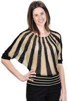J. Furmani Women's Designer Collection Knitted Two-tone Boat Neck
