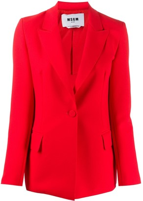 MSGM Fitted Single-Breasted Blazer