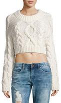 DKNY Merino Wool Cropped Sweater