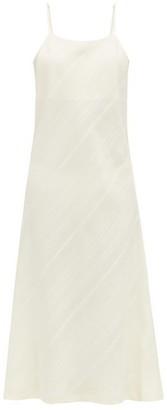 Jil Sander Striped Silk Pyjama Slip Dress - Cream