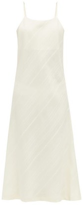 Jil Sander Striped Silk Pyjama Slip Dress - Womens - Cream