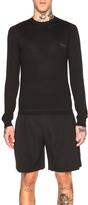 Givenchy Crew Neck Patch Jumper in Black.
