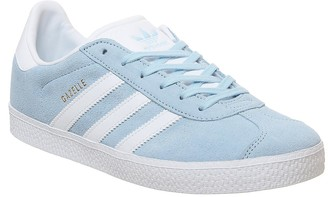 adidas Gazelle Jnr Trainers Clear Sky White Gold Met