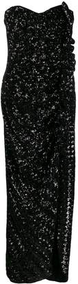 Giuseppe Di Morabito sequin embellished side split dress