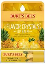 Burt's Bees Flavor Crystals 100% Natural Lip Balm, Tropical Pineapple with Beeswax & Fruit Extracts - 1 Tube