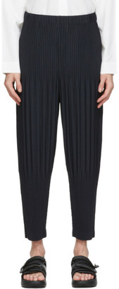 Homme Plissé Issey Miyake Navy Tapered Basics Trousers