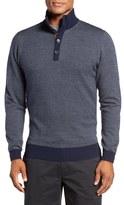 Bobby Jones Men's Birdseye Quarter Button Wool Sweater