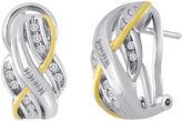 JCPenney FINE JEWELRY 1/4 CT. T.W. Diamond Two-Tone Crossover Earrings
