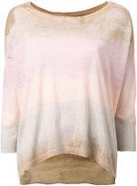 Raquel Allegra bleached stripe T-shirt