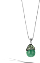 John Hardy Celestial Orb Pendant Necklace with Rainbow Moonstone