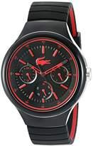 Lacoste Men's 'Borneo' Quartz Resin and Silicone Casual Watch, Color:Black (Model: 2010868)