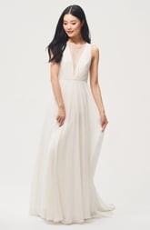 Jenny Yoo Jenny by Fallon Lace & Chiffon A-Line Gown