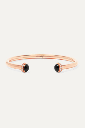 Piaget Possession 18-karat Rose Gold, Onyx And Diamond Cuff - L