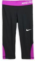 Nike Girl's 'Pro Cool' Dri-Fit Capri Leggings