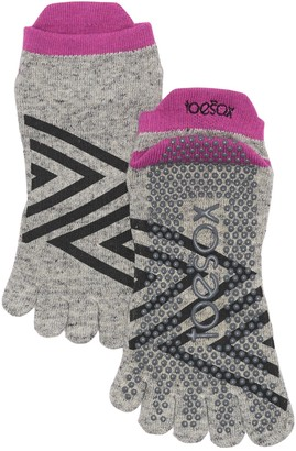Toesox Full Toe Low Rise Grip Socks