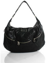Marc by Marc Jacobs Black Leather Silver Tone Hardware Hobo Handbag