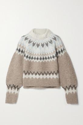 rag & bone - Fran Fair Isle Alpaca-blend Turtleneck Sweater - Beige