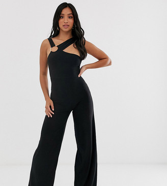 Club L London Petite jumpsuit with hardware back detail in black