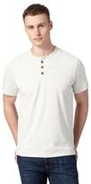 St George By Duffer Dark Cream Embroidered Logo Grandad T-shirt
