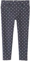 Joe Fresh Toddler Girls' Polka Dot Jegging, Navy (Size 3)
