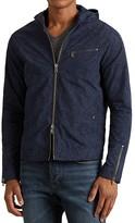 John Varvatos Hooded Zip Front Jacket