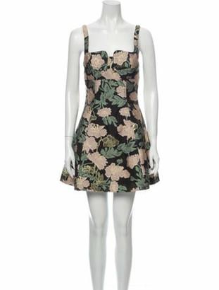 Mestiza New York Floral Print Mini Dress w/ Tags Black
