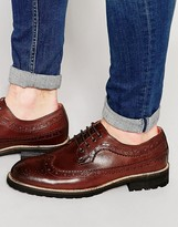 Bellfield Hannover Brogues In Brown Leather
