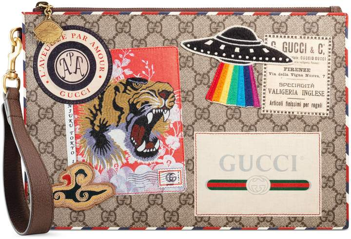 Gucci Courrier GG Supreme pouch