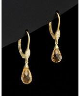Meira T 14k 0.54 Ct. Tw. Diamond& Citrine Drop Earrings.