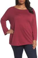 Sejour Plus Size Women's Drop Shoulder Sweatshirt