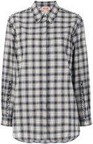 No.21 beaded checked shirt