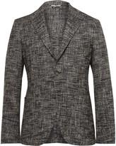 Etro Grey Slim-Fit Unstructured Textured Cotton-Blend Blazer
