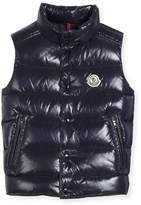 Moncler Vented-Hem Quilted Puffer Vest, Size 8-14