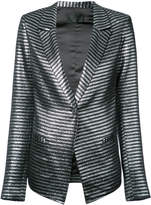 RtA Iggy metallic stripe blazer