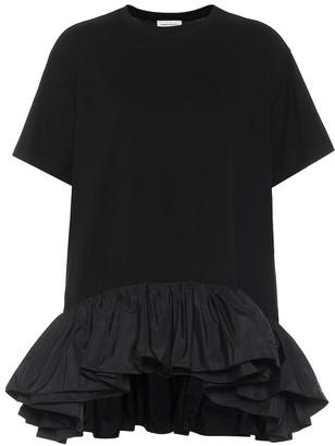 Alexander McQueen Ruffle-trimmed cotton jersey T-shirt